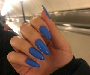 beauty, blue, and naildesign image