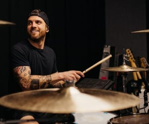 all time low, drums, and smile image
