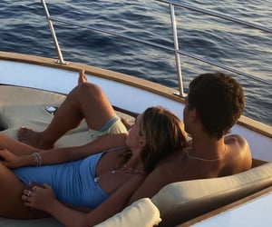 couple, love, and boat image