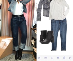 ankle boots, denim, and jeans image