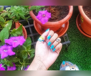 floral, Happy Feet, and bluenails image