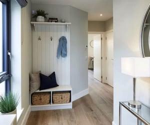 hallway, interior design, and light image
