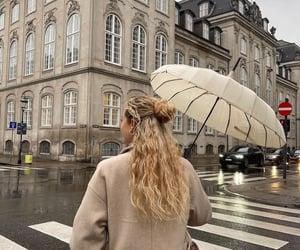 girl, hair, and rain image