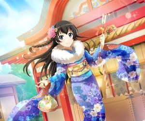 anime girl, game, and kimono image