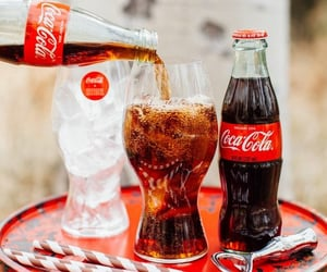 coca cola, coke, and drinks image