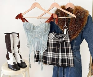 boots, bustier, and photography image