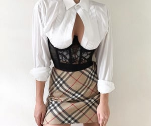 aesthetic, plaid, and skirt image