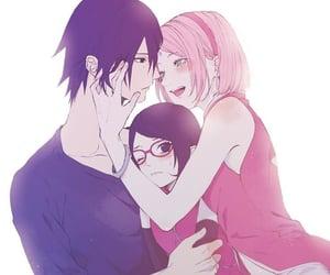 sasuke uchiha, sasusaku, and sakura uchiha image