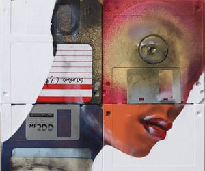 aesthetic, mixed media, and cyber punk image