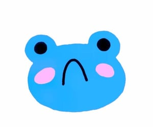 blue, doodle, and frog image