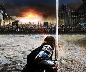 battle, sauron, and the lord of the rings image