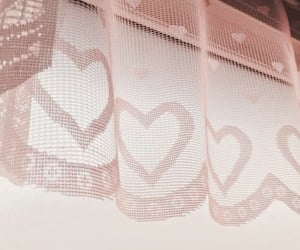 aesthetic, curtain, and heart image