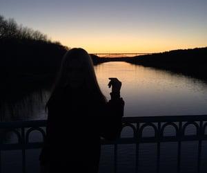 bridge, dark, and girl image