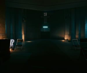 cyberpunk, benches, and black image