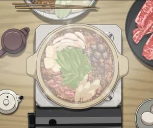 anime food, anime, and anime scenery image