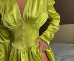 aesthetic, vintage, and silk dress image