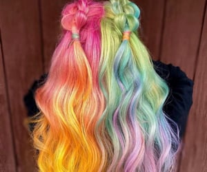 amazing hair, braided hair, and dyed hair image
