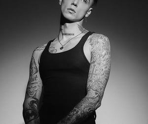 b&w, andy biersack, and andy black image