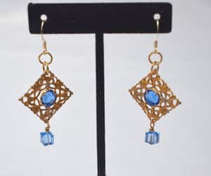 etsy, ooak, and blue gold image