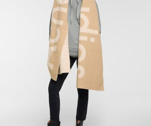 beige, fashion, and scarf image