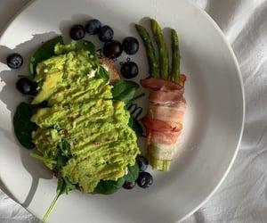 asparagus, avocado, and bacon image