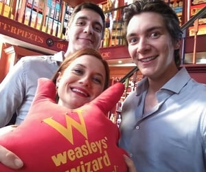 bonnie wright, ginny weasley, and james phelps image