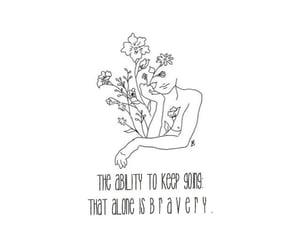 bravery, healing, and self love image