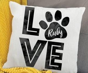 pillow, dog, and name image
