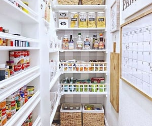 pantry, white, and garde manger image