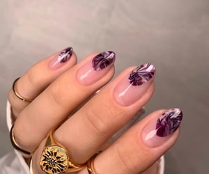 accessories, purple, and rings image