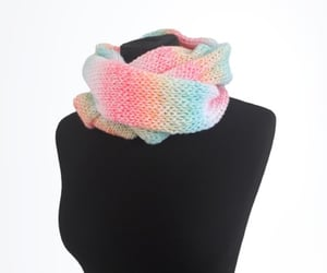 accessories, rainbow colours, and fashion scarf image