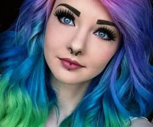 alternative girl, multicolor hair, and alternative style image