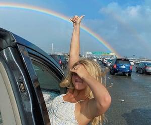 car, girl, and hawaii image