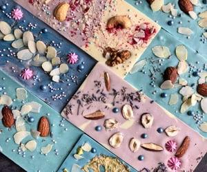 food, blue, and chocolat image