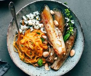vegan food, gluten free, and pumpkin pasta image