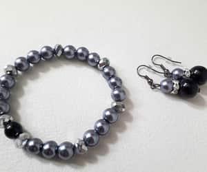 bracelet, handmade bracelet, and handmade earrings image