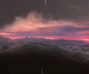 art, beautiful, and clouds image