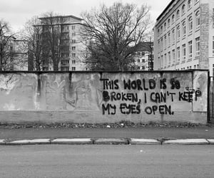 art, black and white, and graffiti image