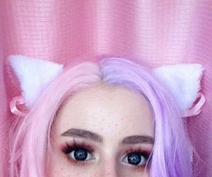 aesthetic, cat ears, and colors image