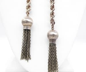 etsy, silver necklace, and tassel necklace image