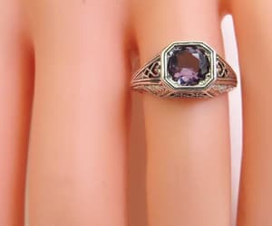 etsy, vintage jewelry, and art deco ring image