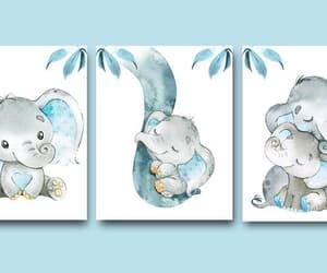 canvas print, elephant print, and baby boy nursery image
