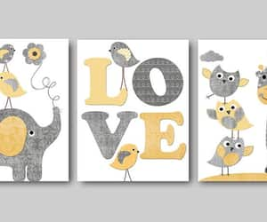 etsy, kids room decor, and set of 3 image