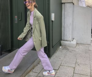 pastel colors, street style, and everyday look image