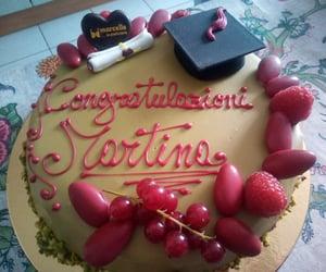 cake, università, and degree image