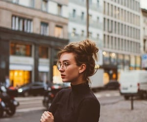 beautiful, messy bun, and subway image