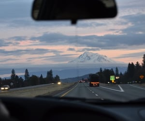 highway, landscape, and nature image