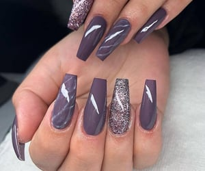 beauty, silver, and naildesign image