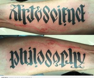 funny, tattoo, and philosophy image