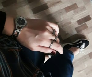aesthetic, hand, and going out image